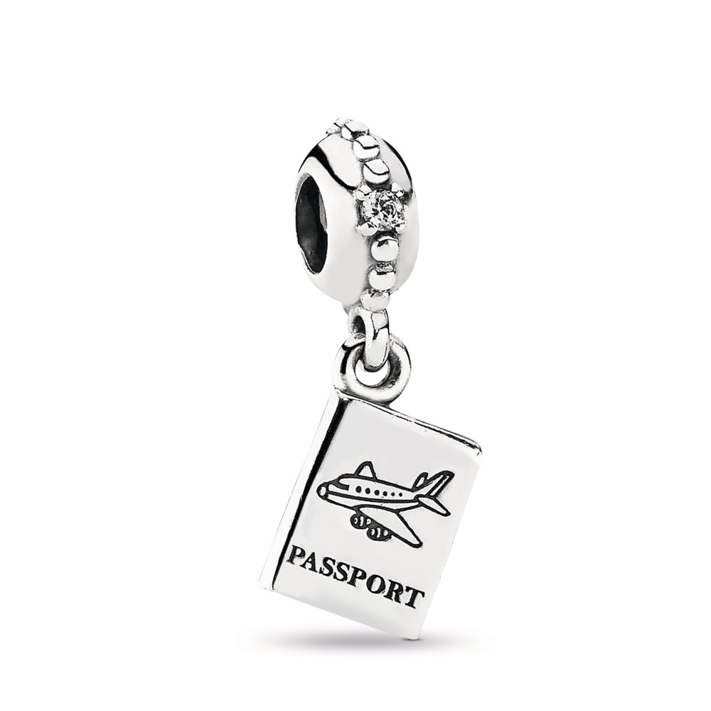 84ac0cade Adventure Awaits Dangle Charm, Clear CZ, Sterling silver, Cubic Zirconia -  PANDORA -