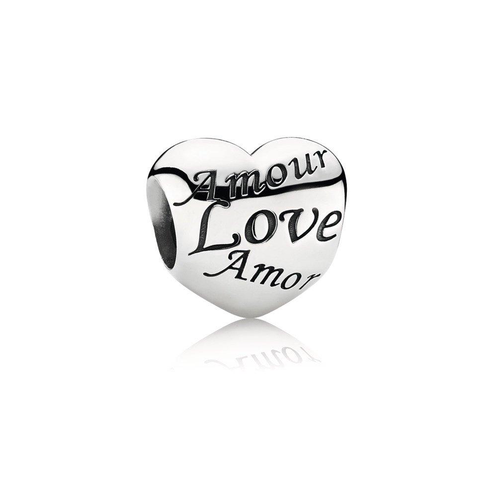 Language Of Love Charm, Sterling silver - PANDORA - #791111