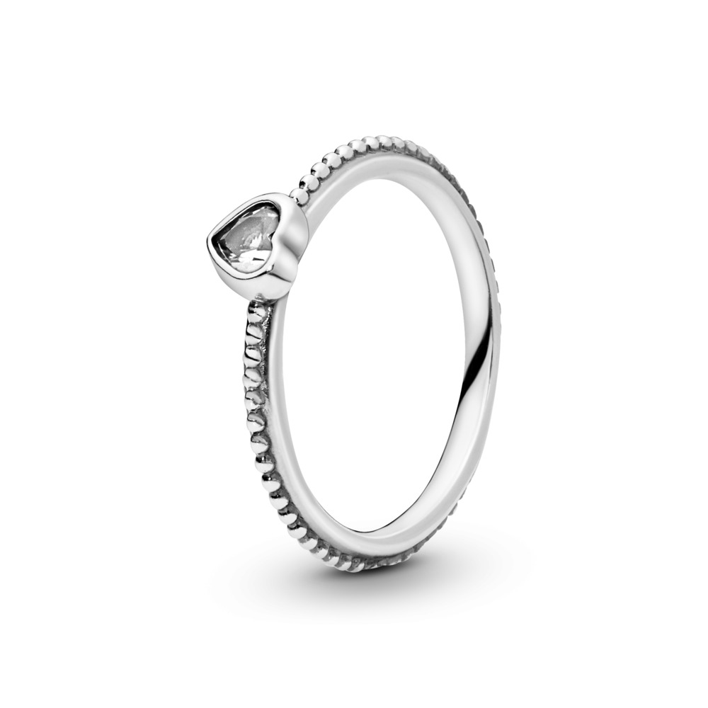 One Love Ring, Clear CZ, Sterling silver, Cubic Zirconia - PANDORA - #190896CZ