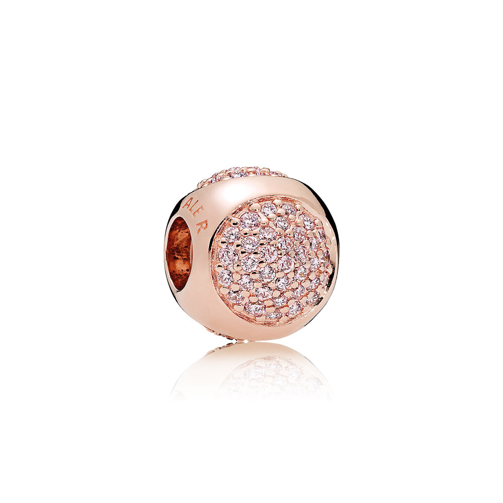 Dazzling Droplet Charm, PANDORA Rose™ & Pink CZ