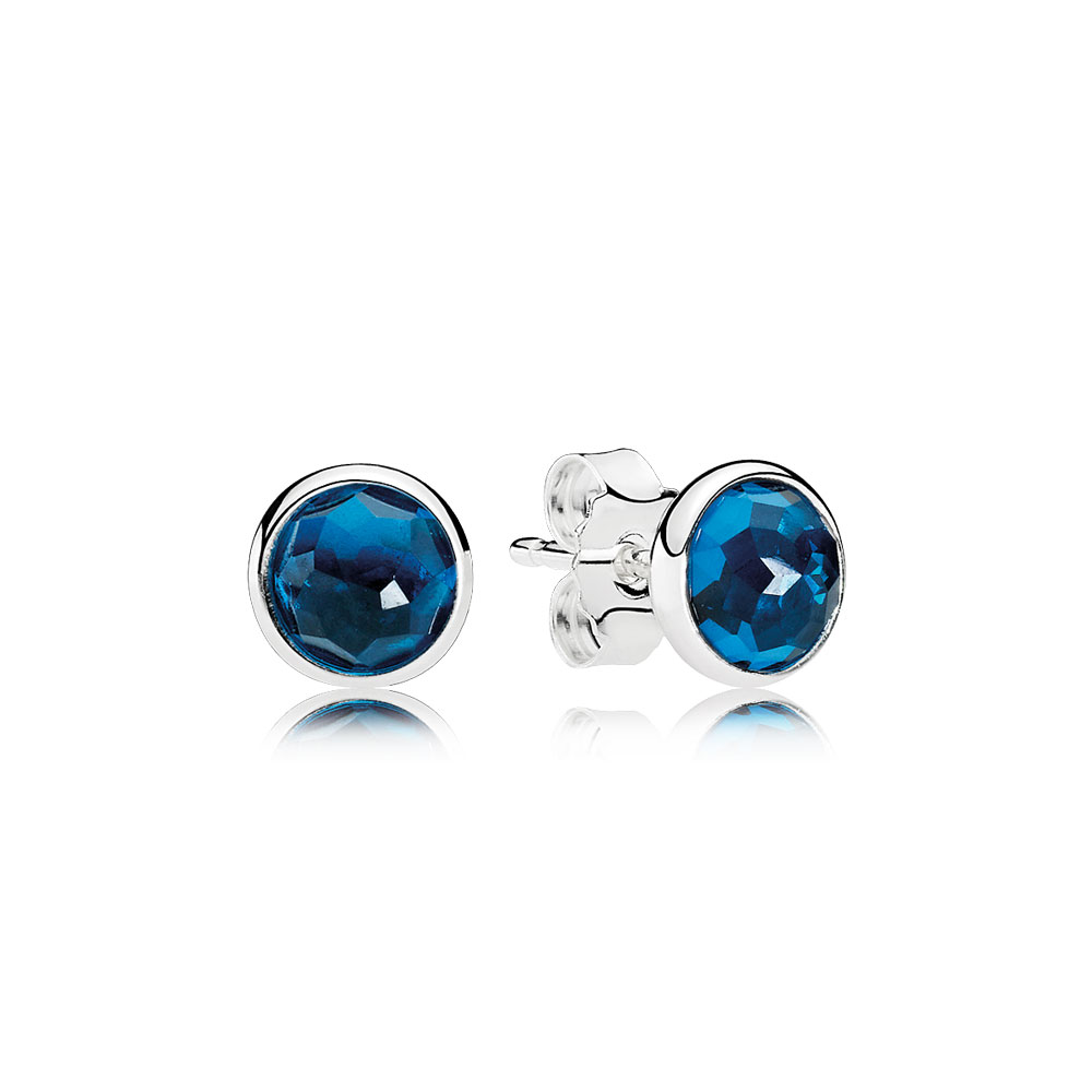 December Droplets Stud Earrings, London Blue Crystal