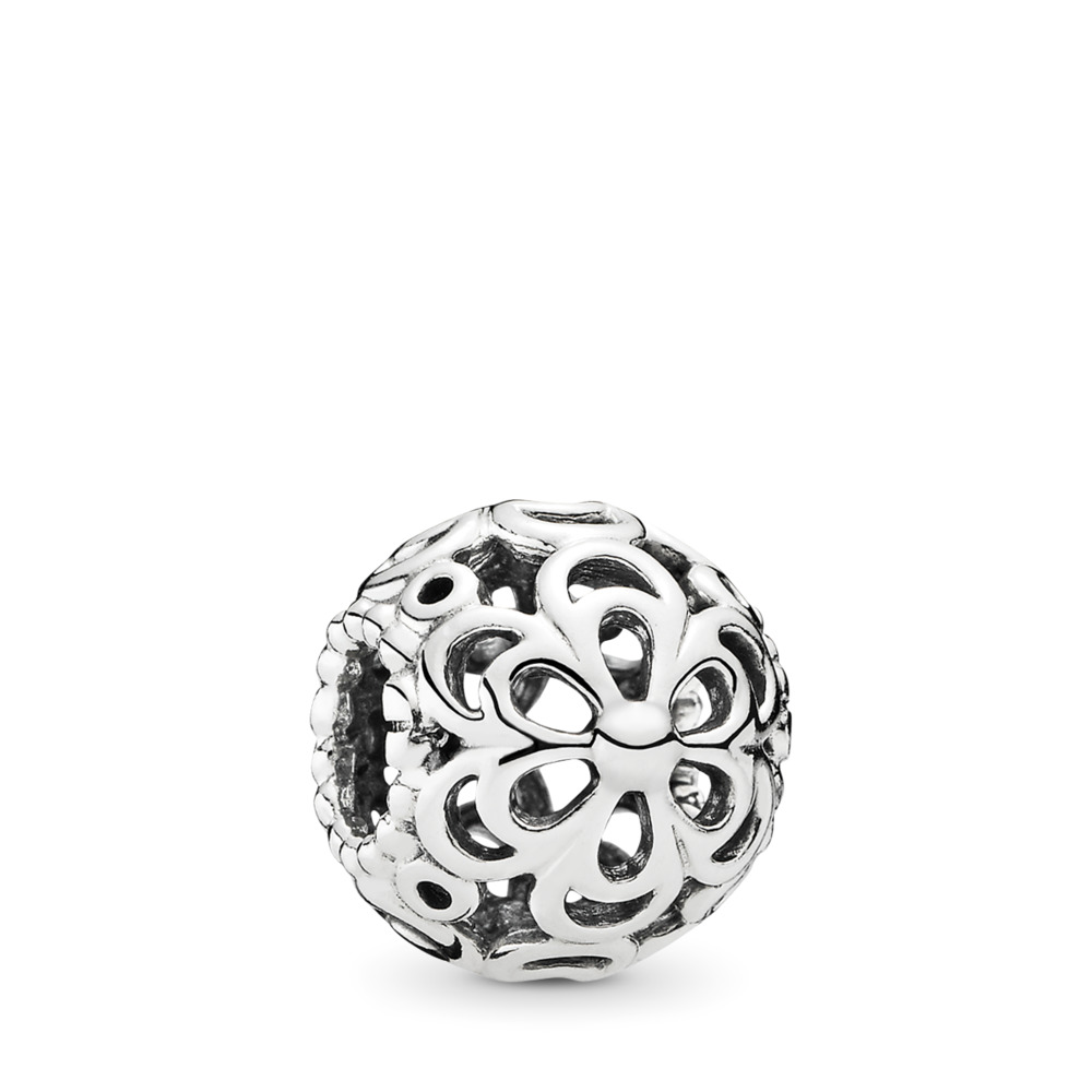 Picking Daisies Flower Charm, Sterling silver - PANDORA - #790965