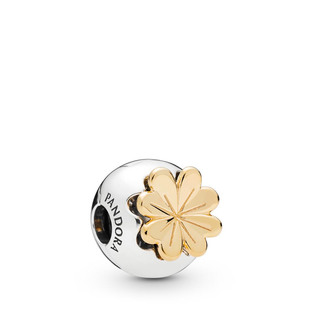 Shining Clover, Pandora Shine™, PANDORA Shine and sterling silver, Cubic Zirconia - PANDORA - #768000CZ
