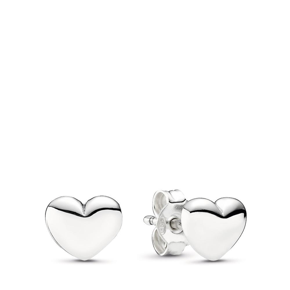 10a96460c Hearts Stud Earrings, Sterling silver - PANDORA - #290550