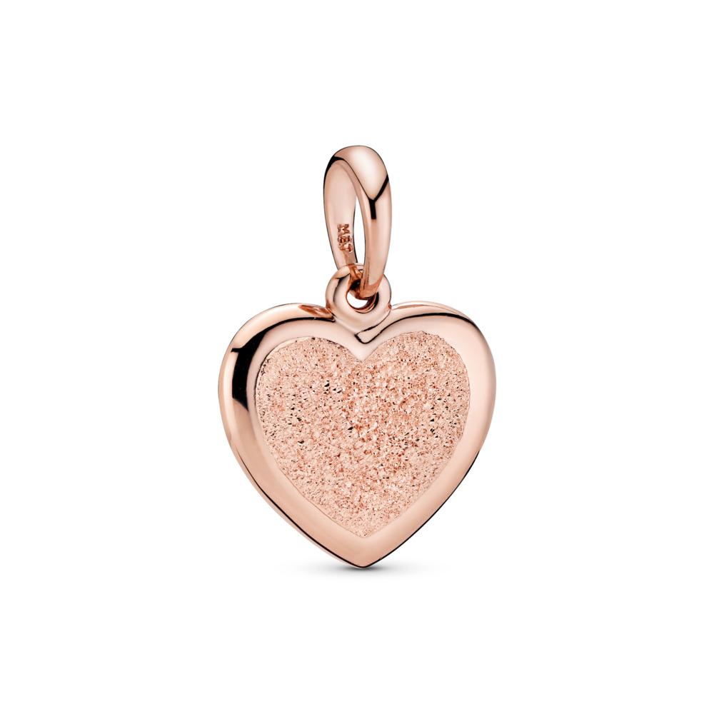 Matte Brilliance Heart Pendant, Pandora Rose™, PANDORA Rose - PANDORA - #387926