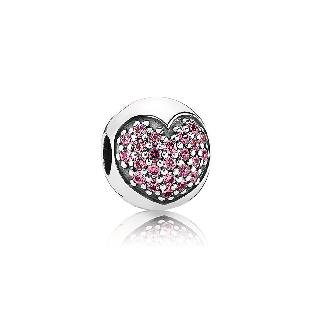 Love Of My Life Clip, Fancy Pink CZ, Sterling silver, Pink, Cubic Zirconia - PANDORA - #791053CZS