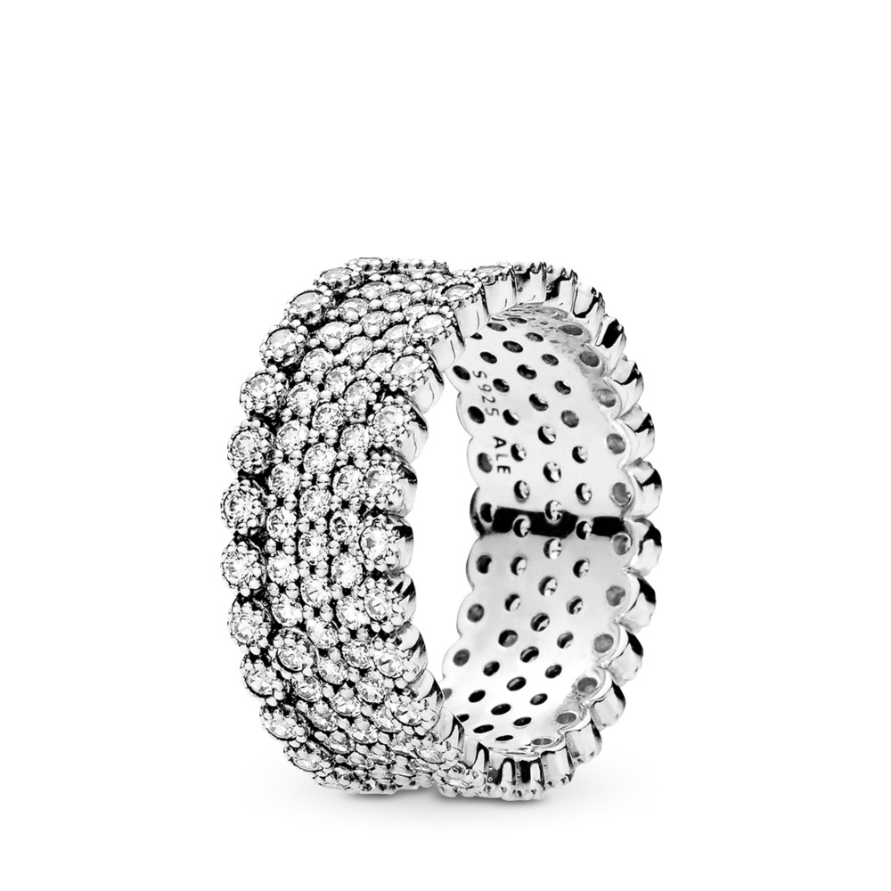 Lavish Sparkle Ring, Clear CZ, Sterling silver, Cubic Zirconia - PANDORA - #196313CZ