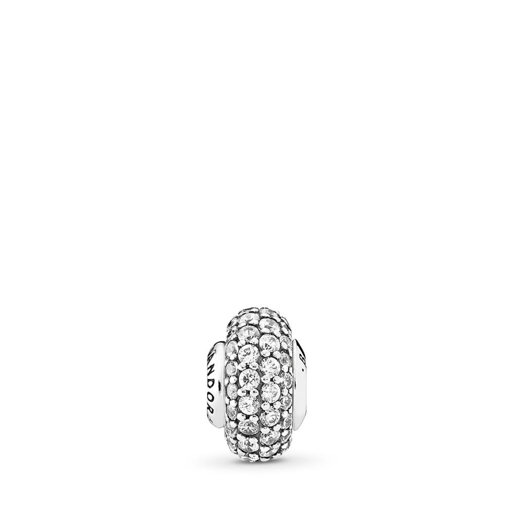 BALANCE Charm, Clear CZ, Sterling silver, Silicone, Cubic Zirconia - PANDORA - #796088CZ