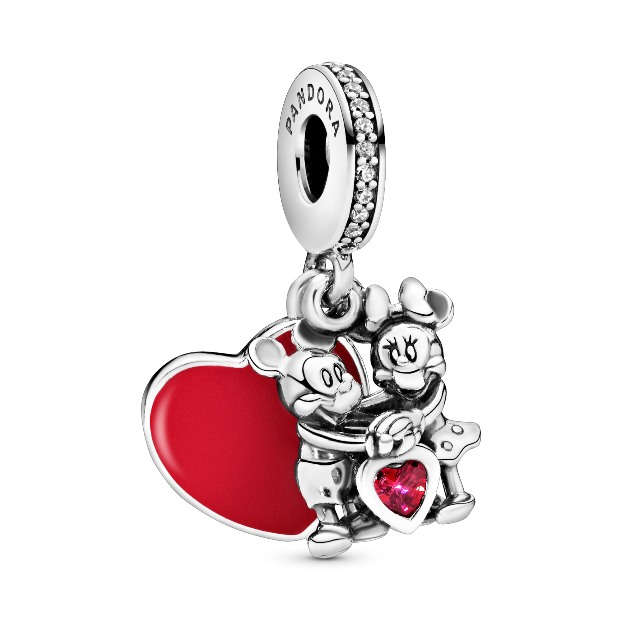 Disney Mickey Mouse & Minnie Mouse Love Dangle Charm
