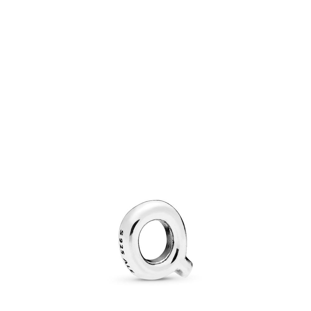 Letter Q Petite Locket Charm, Sterling silver - PANDORA - #797335
