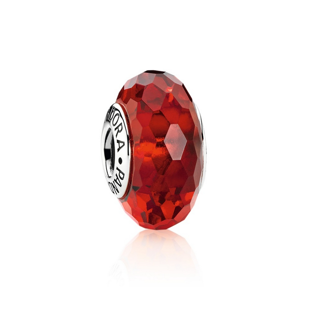 Fascinating Red Charm, Murano Glass