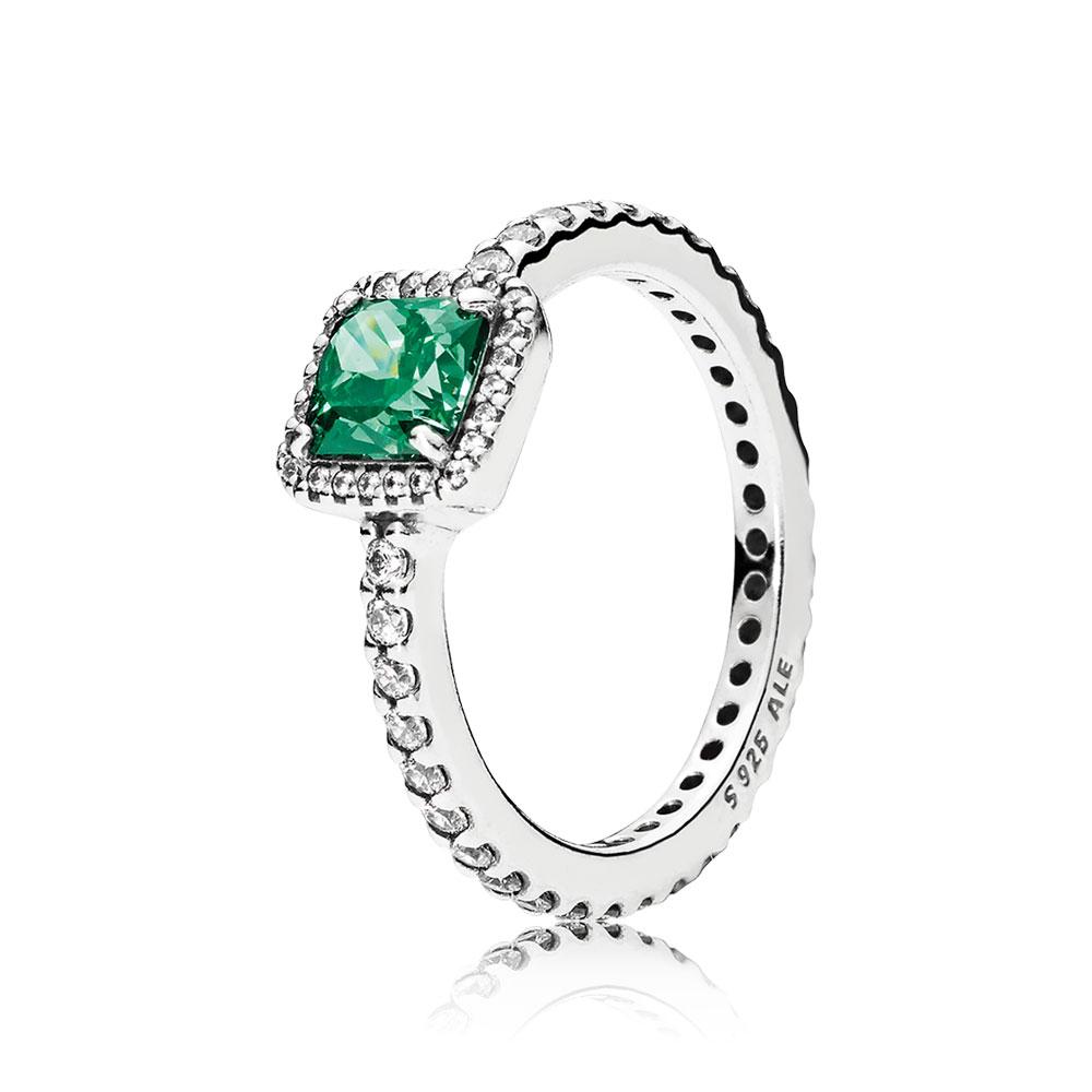 Timeless Elegance, Green & Clear CZ