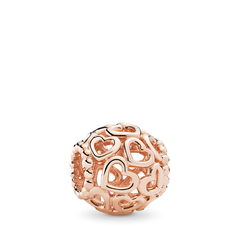 Open Your Heart Filigree Charm, PANDORA Rose™, PANDORA Rose - PANDORA - #780964