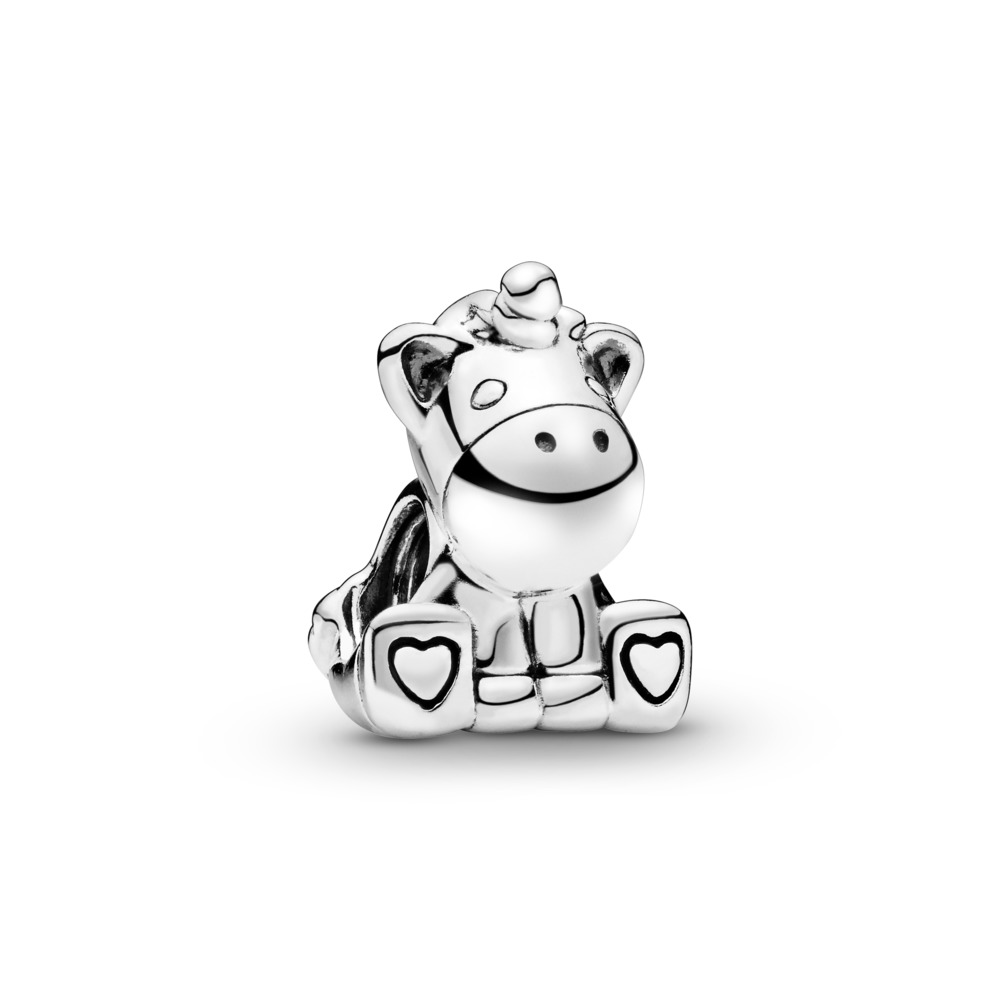 Bruno the Unicorn Charm, Sterling silver - PANDORA - #797609