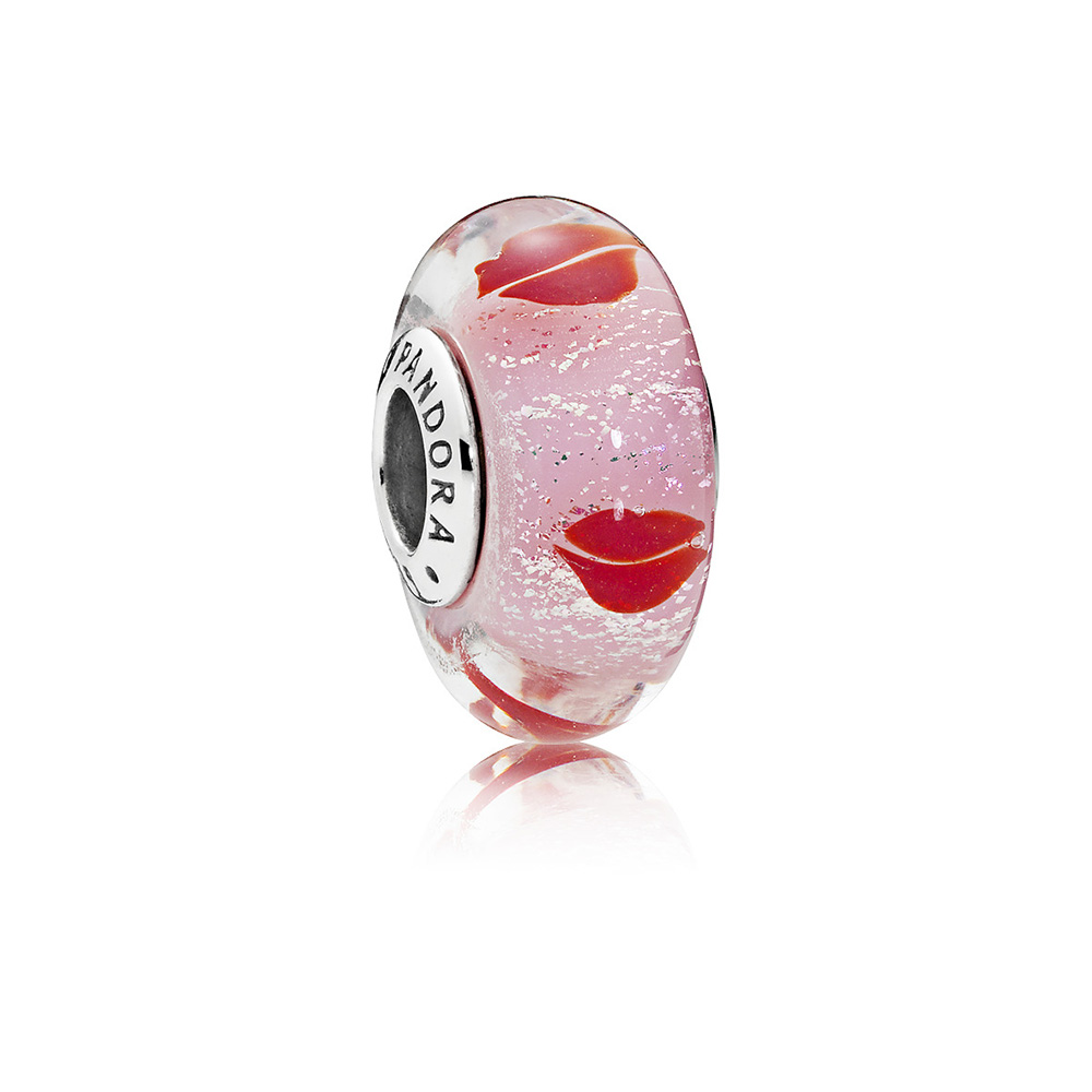 Kisses All Around Charm, Murano Glass