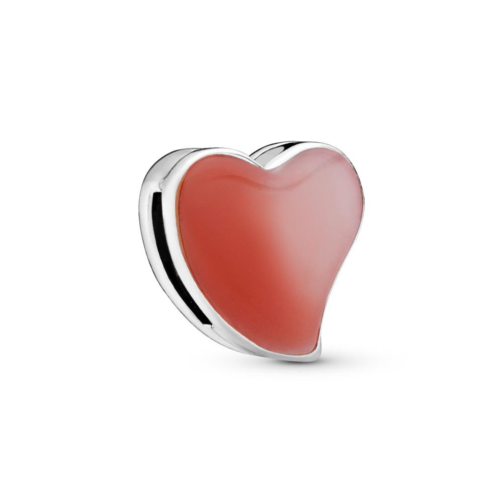PANDORA Reflexions™ Asymmetric Heart of Love Clip Charm, Mixed Enamel, Sterling silver, Enamel - PANDORA - #797809ENMX