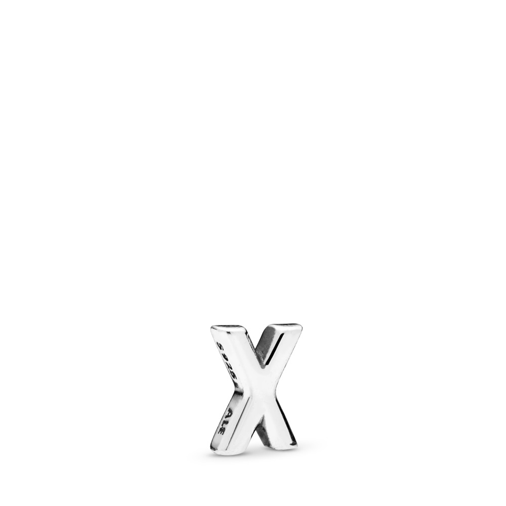 Letter X Petite Locket Charm, Sterling silver - PANDORA - #797342