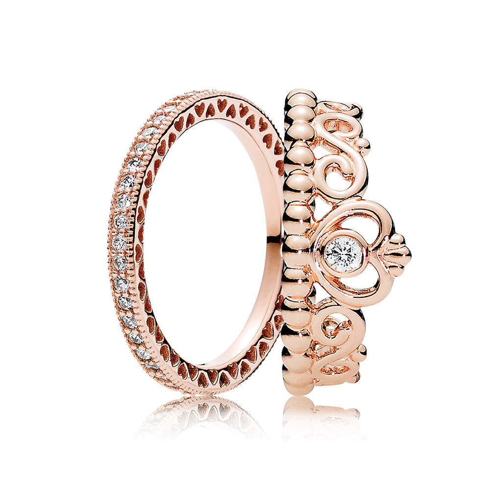 Pandora Rose™ Princess Ring Stack, PANDORA Rose™ - PANDORA - #CS1710
