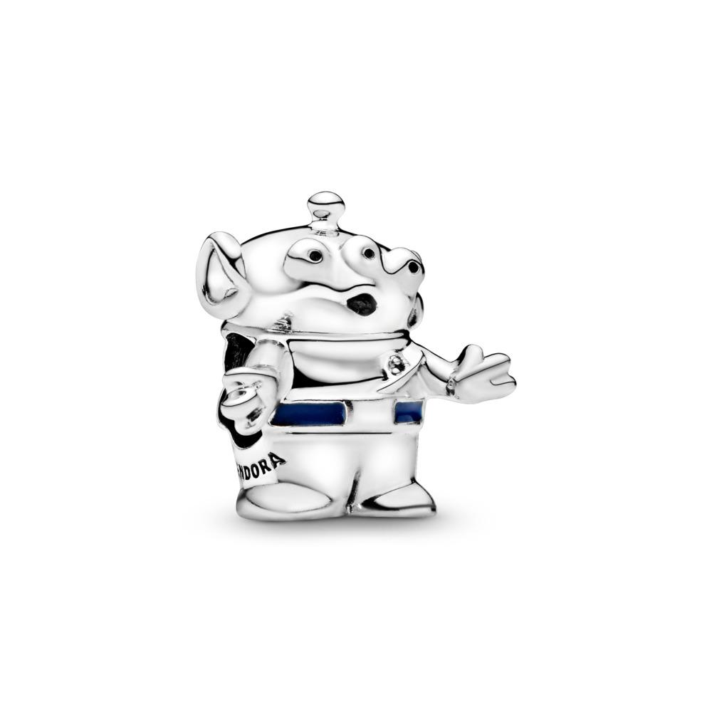 Disney Pixar, Toy Story Alien Charm, Sterling silver, Enamel, Blue - PANDORA - #798045EN82
