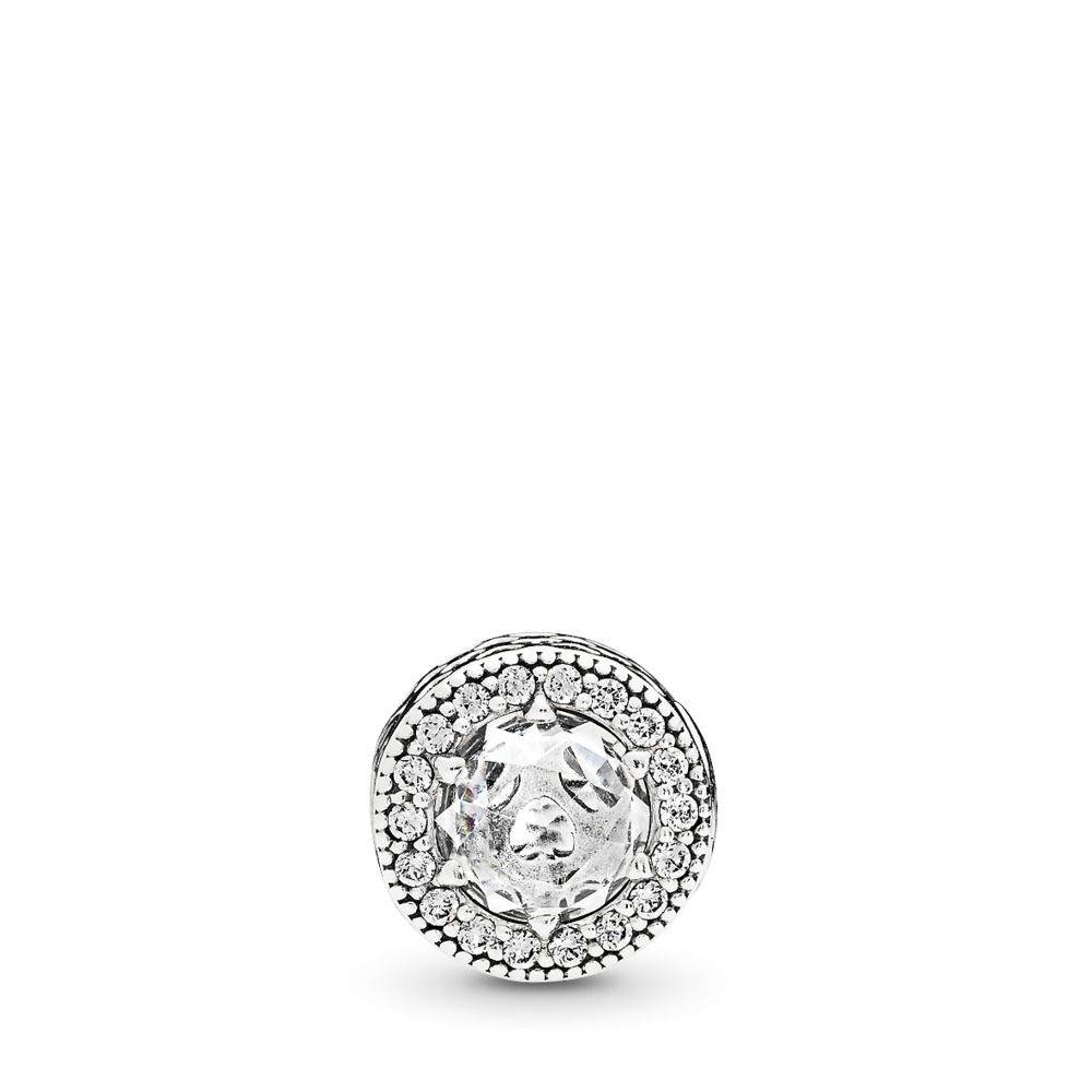 PATIENCE Charm, Clear CZ, Sterling silver, Silicone, Cubic Zirconia - PANDORA - #796298CZ