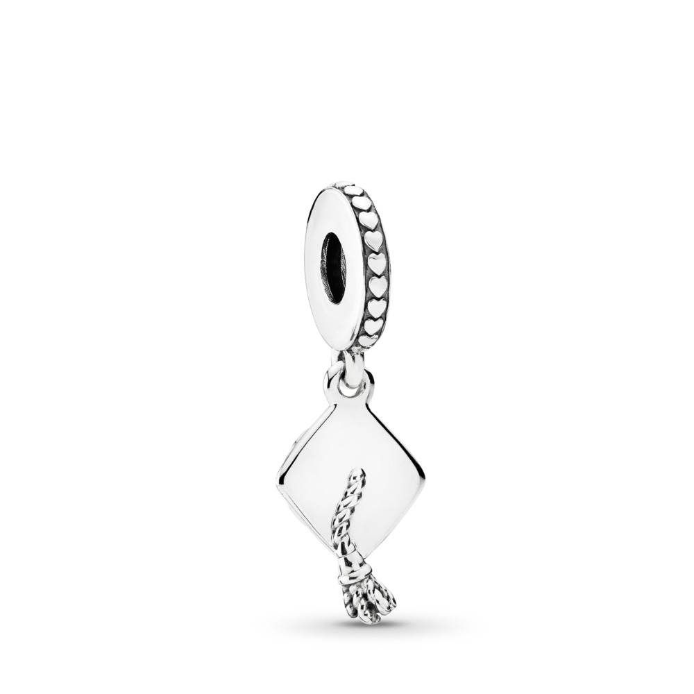 Graduation Dangle Charm, Sterling silver - PANDORA - #791892