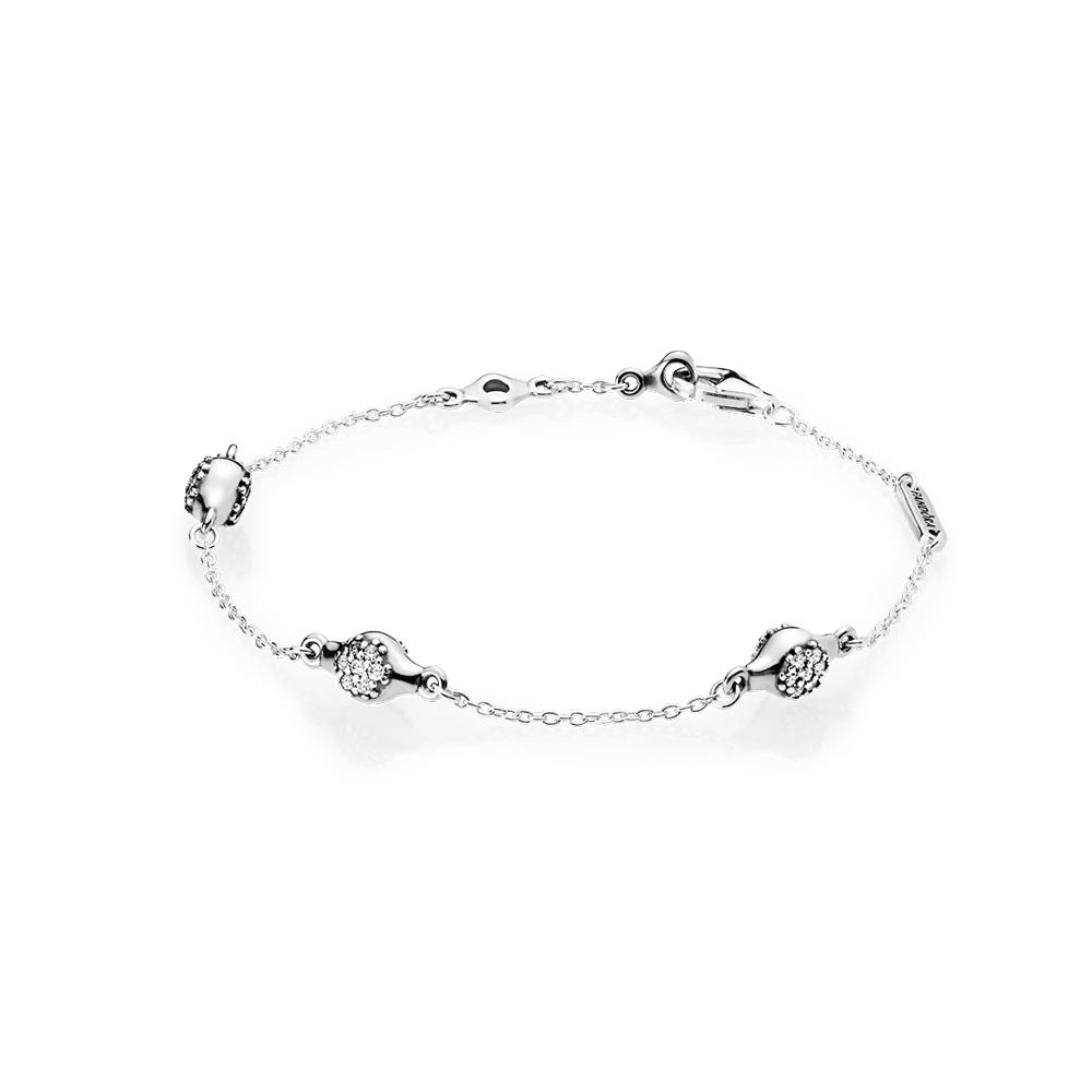 Modern LovePods™ Bracelet, Clear CZ