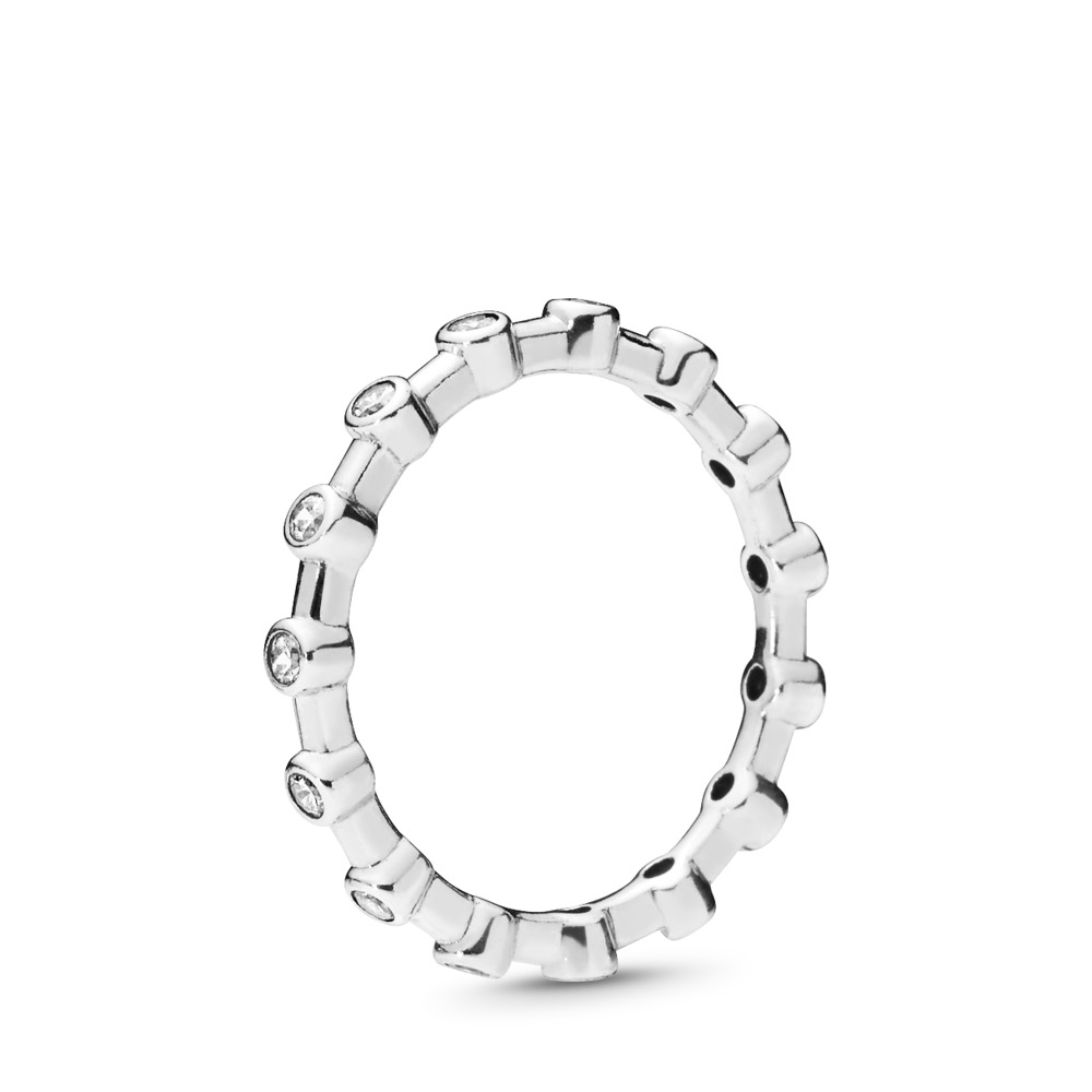 Dazzling Dots Ring, Clear CZ, Sterling silver, Cubic Zirconia - PANDORA - #197718CZ