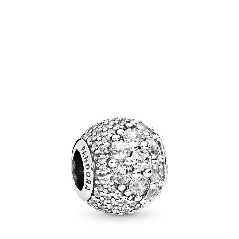Enchanted Pavé Charm, Clear CZ, Sterling silver, Cubic Zirconia - PANDORA - #797032CZ