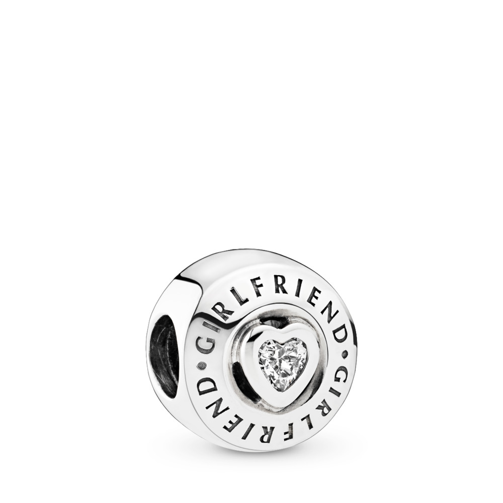 Girlfriend Charm, Clear CZ, Sterling silver, Cubic Zirconia - PANDORA - #792145CZ