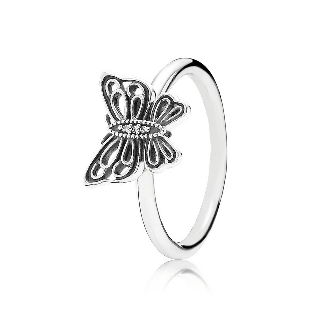 Love Takes Flight Ring, Clear CZ