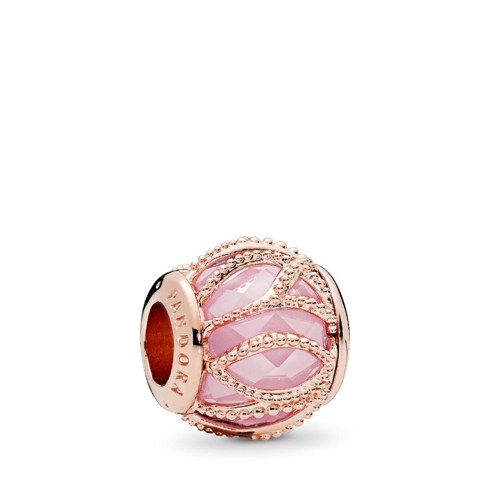 Intertwining Radiance Charm, PANDORA Rose™ & Pink CZ, PANDORA Rose, Pink, Cubic Zirconia - PANDORA - #781968PCZ