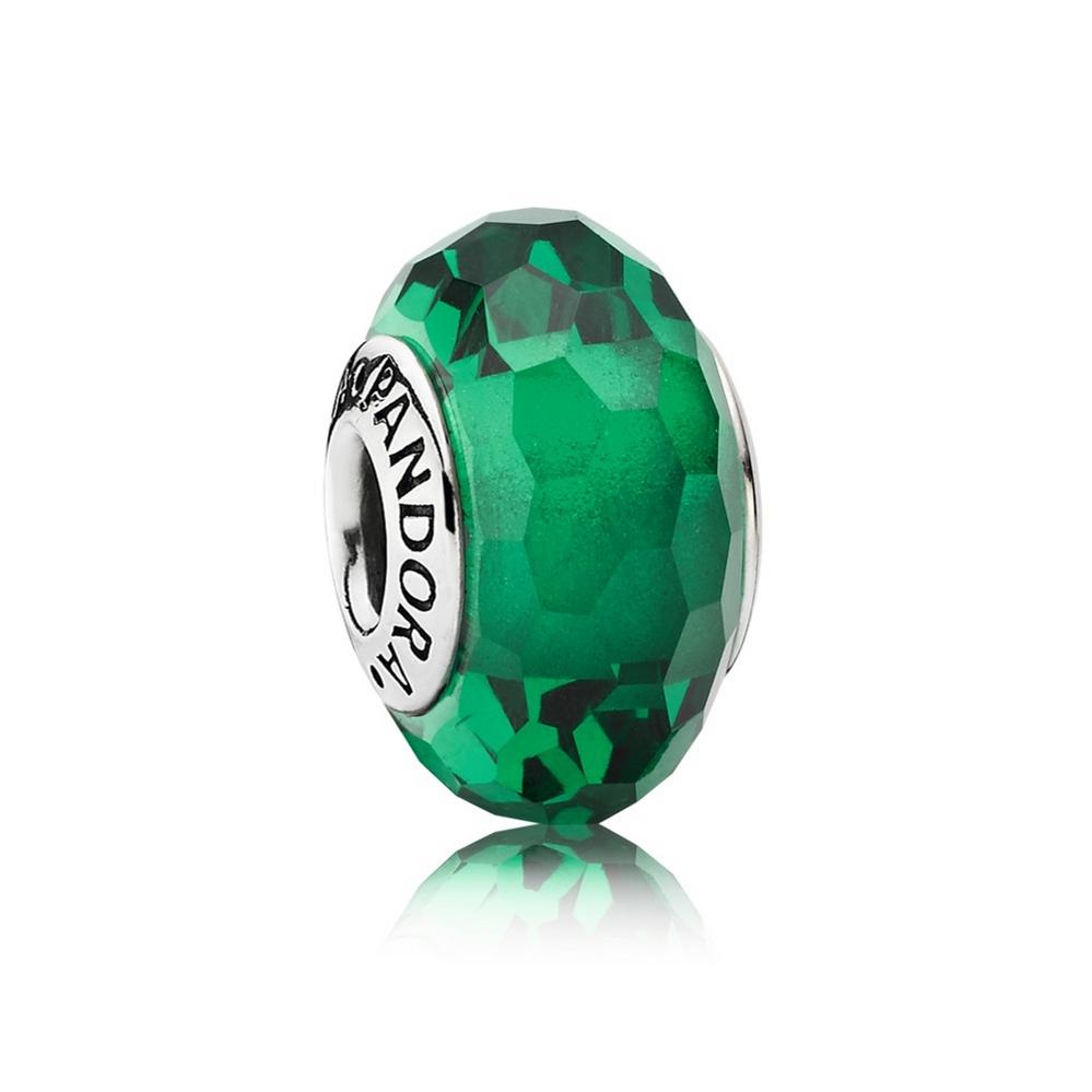 Fascinating Green Charm, Murano Glass