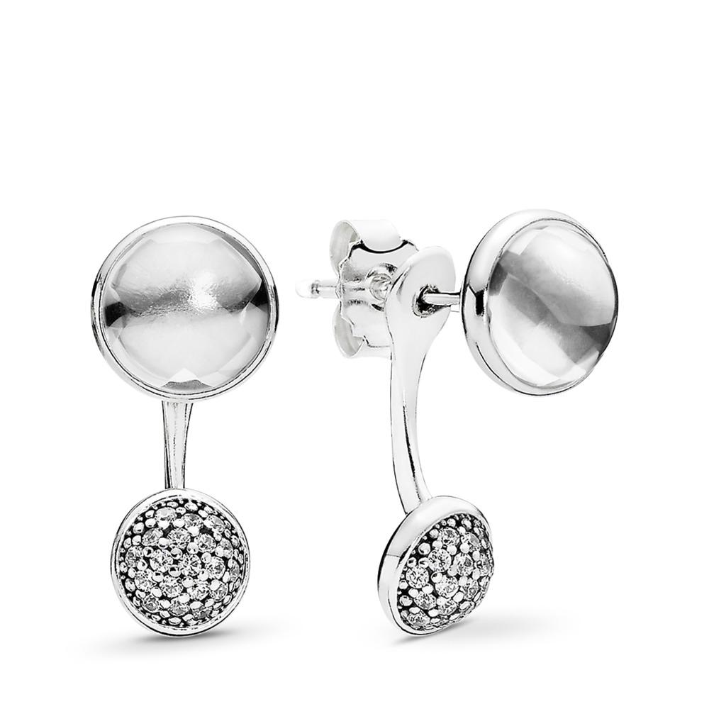 Dazzling Poetic Droplets Drop Earrings, Clear CZ, Sterling silver, Cubic Zirconia - PANDORA - #290728CZ