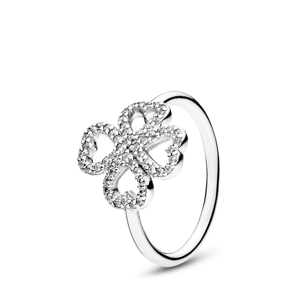 Petals of Love Ring, Clear CZ, Sterling silver, Cubic Zirconia - PANDORA - #190978CZ