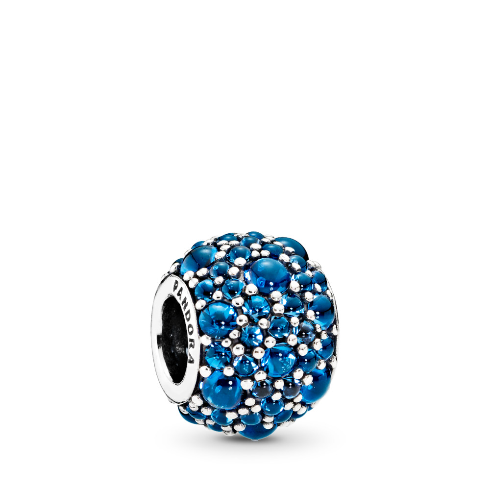 Shimmering Droplets Charm, London Blue Crystal, Sterling silver, Blue, Crystal - PANDORA - #791755NLB