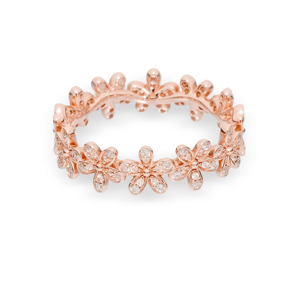 5bbe30038 Dazzling Daisy Ring in Pandora Rose™ & Clear CZ