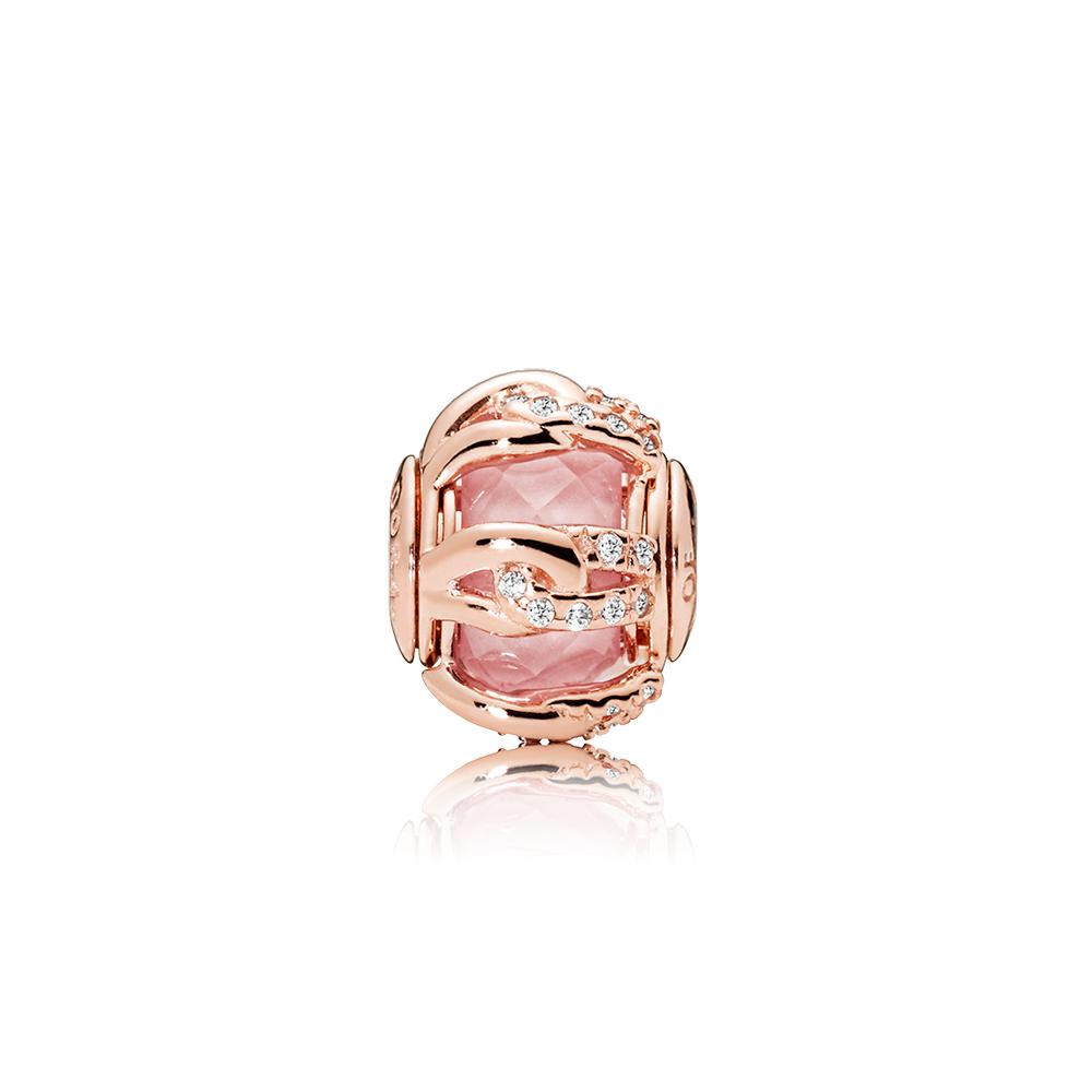 BONDS OF LOVE, PANDORA Rose™, Blush Pink Crystal & Clear CZ
