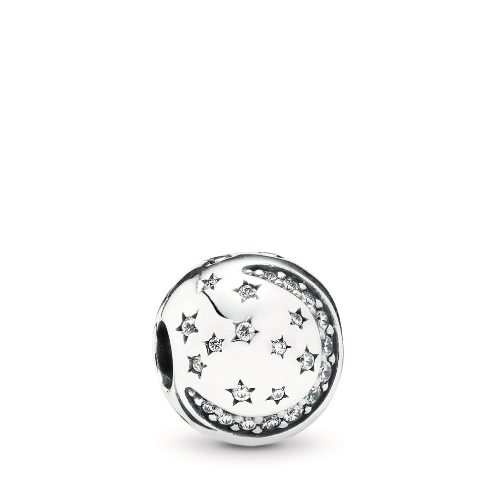 Twinkling Night Clip, Clear CZ, Sterling silver, Cubic Zirconia - PANDORA - #791386CZ