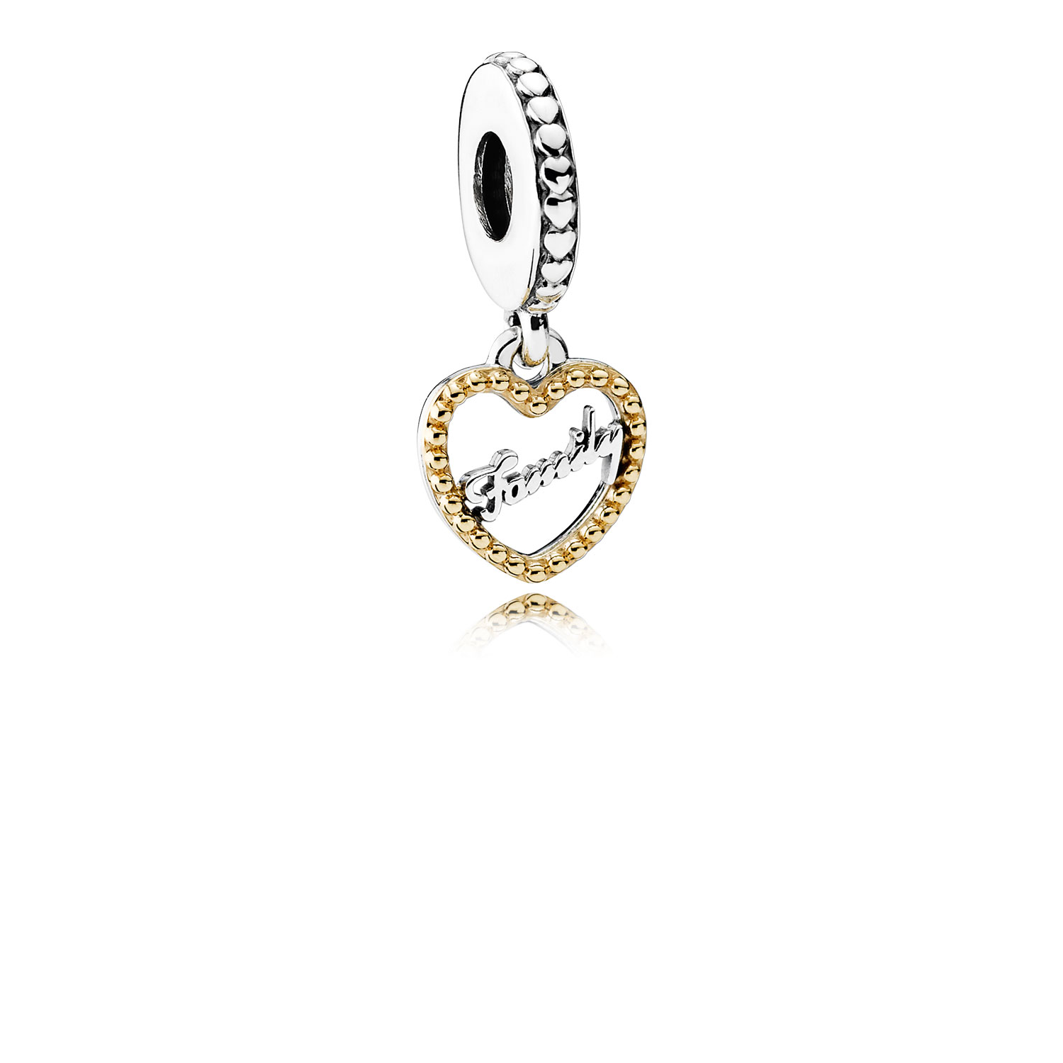 Family Script Dangle Charm