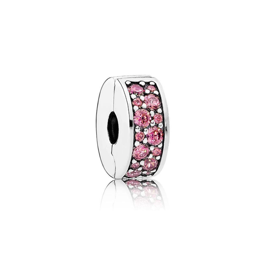 Shining Elegance Clip, Honeysuckle Pink CZ