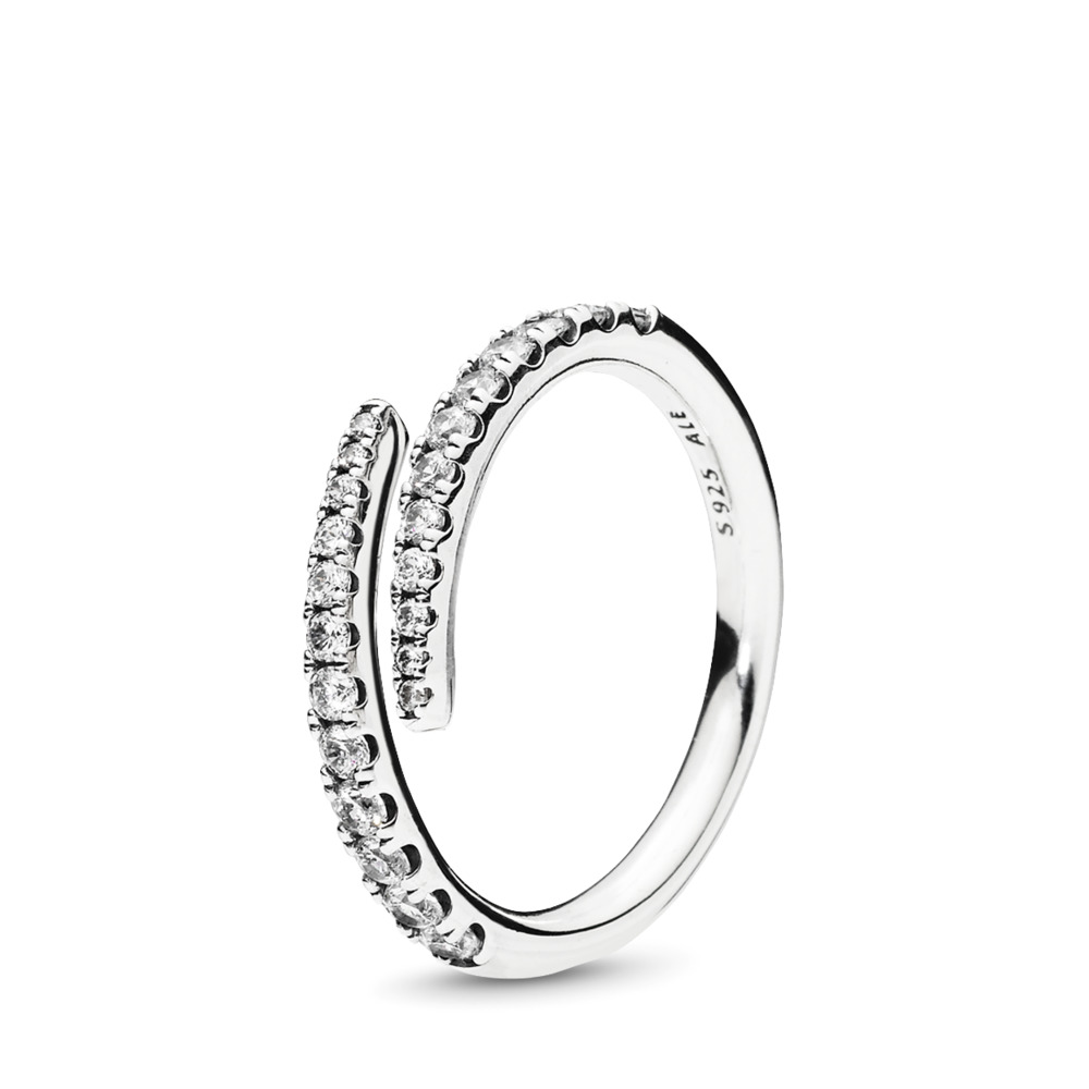 Shooting Star Ring, Clear CZ, Sterling silver, Cubic Zirconia - PANDORA - #196353CZ