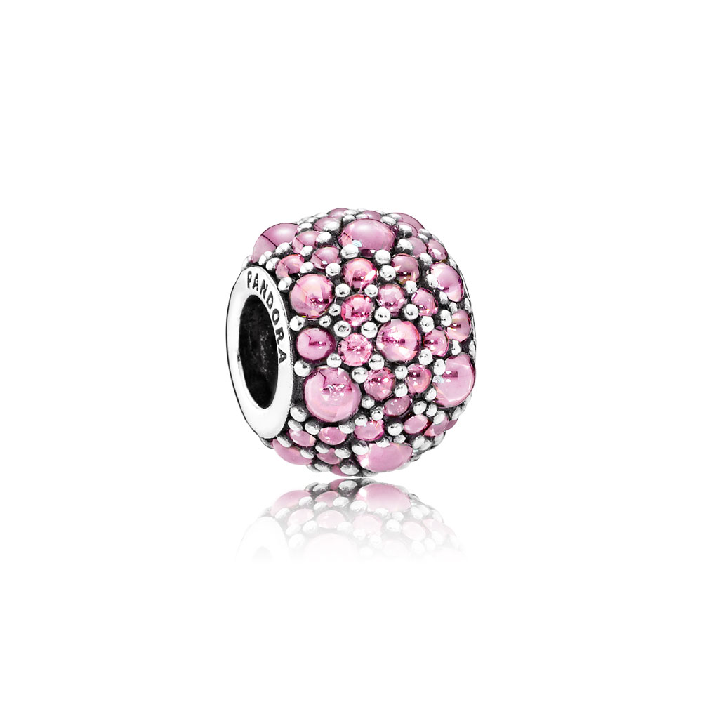 Shimmering Droplets Charm, Pink CZ