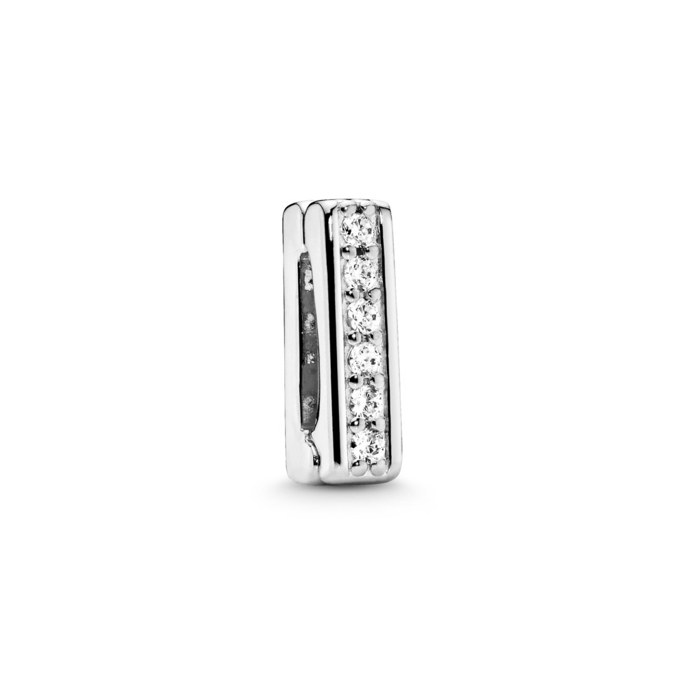 PANDORA Reflexions™ Timeless Sparkle Clip Charm, Clear CZ, Sterling silver, Silicone, Cubic Zirconia - PANDORA - #797633CZ