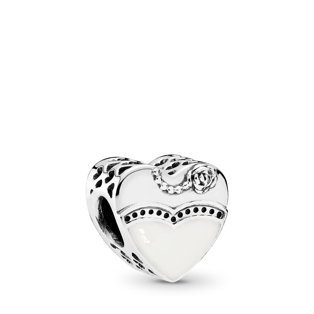 Our Special Day Charm, Black & White Enamel, Sterling silver, Enamel - PANDORA - #791840ENMX