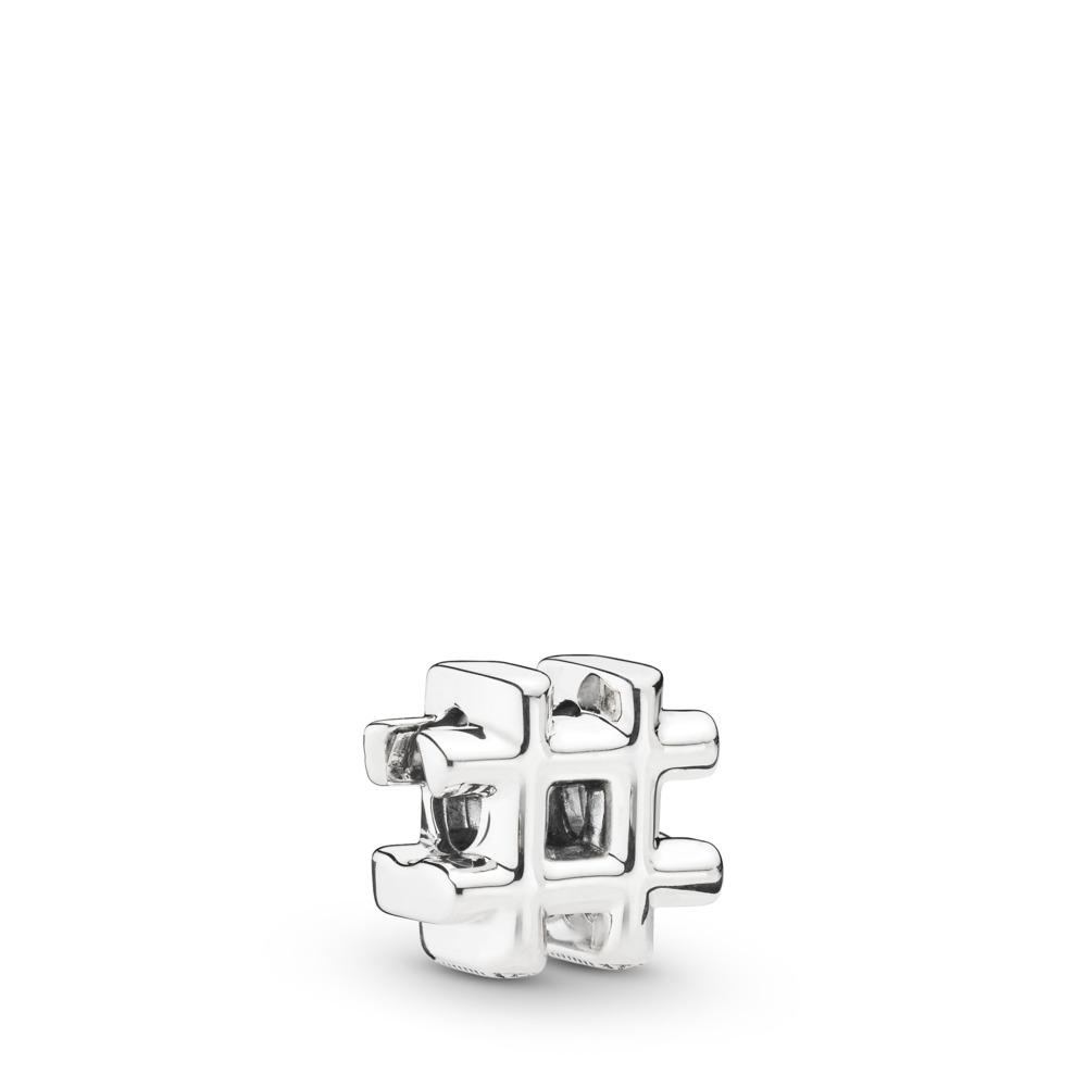 Hashtag Symbol Charm, Sterling silver - PANDORA - #798128