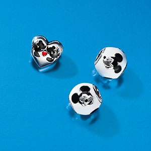 Mickey and Minnie Charms