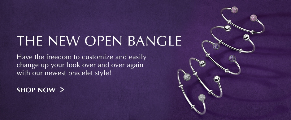The New open bangle. Shop Now.