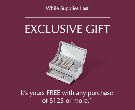Offer available October 4th – October 14th while supplies last at participating full-line retailers and online. $125.00 PANDORA spend must be before taxes and after discounts to qualify.
