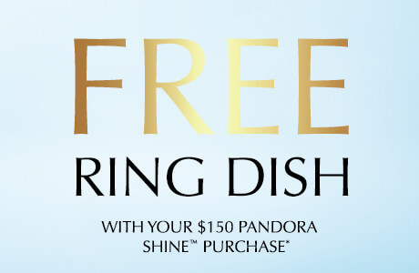 Free Ring Dish with your $150 Pandora Shine Purchase